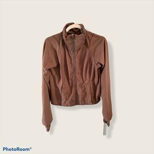 Lululemon Brown Herringbone Zip Up Jacket